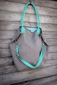 Borse a tracolla - Bag XXL Aqua Nube - un prodotto unico di MANA-MANA-BAGS su DaWanda