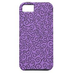 Purple swirls iPhone 5 covers
