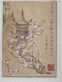 картина в стиле ямато-э, который характеризуется яркими силуэтными изображениями и горизонтальными свитками.