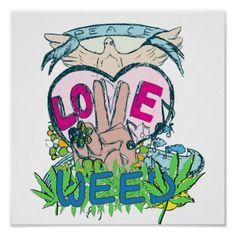 Peace Love Weed – Marijuana Memes #weedmemes #hippies #marijuanamemes #memes #cannabis