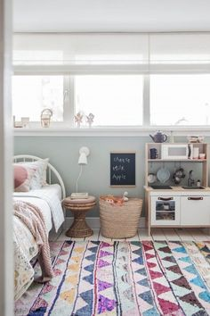Hey everyone! I have been dying to share this space with you for, well, about two and a half years in fact. It is a sweet little girl's bedroom belonging to my daughter, Lola, and it has been in the m