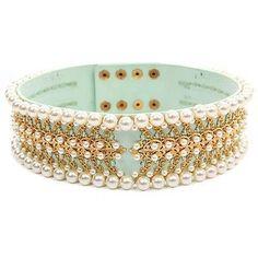 High waist pearl belt