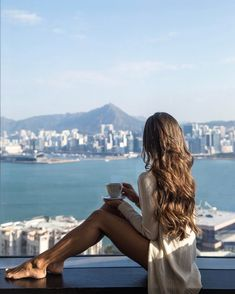 """3,381 Likes, 54 Comments - Nicole Jayne White (@njwhite) on Instagram: """"Coffee with a view ☕️ #latergram #thatview #blessed #perfectweather #blueskies #hongkong"""""""