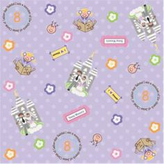new! Flannel Fabric - Mormon Girl LDS Flannel Fabric Lilac