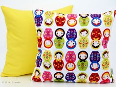Cute pillow - little dreams with matryoshka dolls imprint. Lovely!