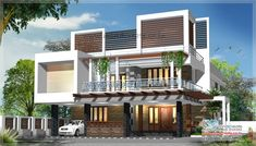 Stylish #Contemporary Model Home Elevations. Meet Our Designer Today  #contemporarytypehome #semicontemporary #KMHP http://www.kmhp.in/design/contemporary-type-house-elevation/