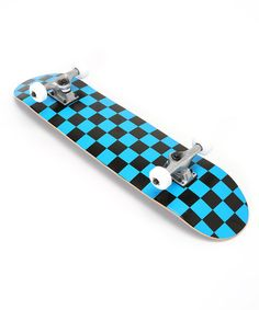 Checkerboard Skateboard | Zulily want to so bad I really want this for Christmas badly