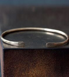 Hammered Open Cuff Bracelet by Alexis Russell on Scoutmob Shoppe