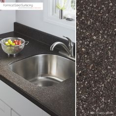 Formica carries Solid Surfacing? Absolutely we do!    Formica Solid Surfacing is a beautiful, clean solution for your next kitchen or bathroom countertop.    Here is 651 Chicory Mosaic