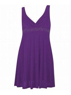 Plus Size Royal Purple Dress