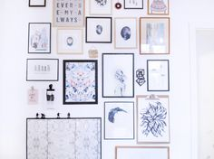 Picture wall made with Sostrene Grene frames by frkhansen.dk