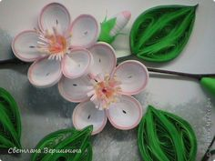 *QUILLING ~ The painting mural drawing New Year Quilling Apple tree in the fog Photo Paper 3