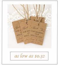 rustic vintage burlap thank you tag cards
