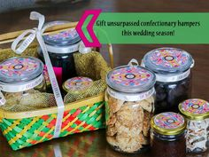 Premium confectionery wedding gift hampers only @ #COCOADRAMA. Address: Cocoa Drama, Opp Advait Complex,Nr Sandesh Press,Vastrapur.  Contact: 9925152453,  079-26850554 #Dessert #Bakery #Lounge #Chocolates #Sweets #CityShorAhmedabad