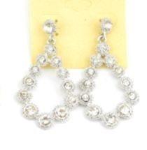 Diamond Teardrop Earrings Price $6.00