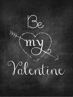Be My Valentine chalkboard, too cute :) #PANDORAvalentinescontest
