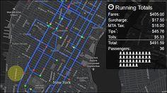 約1万台のタクシーの走行ルートを1日の最初からマッピングして観察できる「NYC Taxis:A Day in the Life」 - GIGAZINE