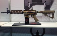 """Amtan Karmiel"" unveiled at the arms exhibition held in Germany two versions of a new rifle. This is the semi-automatic MZ-15 rifle, compatible with the AR-15, and its automatic version, MZ-4, compatible with the M-16. Special Coverage by Eyal Bugoslavsky from Nuremberg #Emtan #IWA2015 #IWAOutdoorClassics #AR15 #M4 #M16"