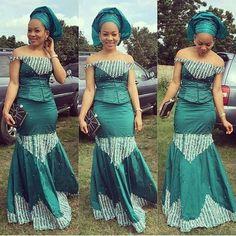 Creative Aso Ebi Skirt and Blouse Design . Creative Aso Ebi Skirt and Blouse Design African Wear Dresses, Latest African Fashion Dresses, African Print Fashion, Africa Fashion, African Prints, Kente Styles, Aso Ebi Styles, African Wedding Attire, African Attire