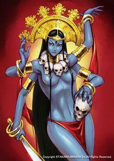 Risultati immagini per sexy kali Kali Goddess, Mother Goddess, Kali Tattoo, Wicca, Mother Kali, Legends And Myths, Hindu Deities, Indian Gods, Bones