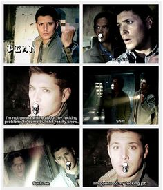 Such a funny episode because this is exactly how they would talk in real life -  #Supernatural #Ghostfacers