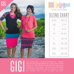 The LuLaRoe Gigi Top! Here is a brand spankin new top!!! YAY! Hurry and grab the few I have because they are hard to keep in stock! They are the Julia dress cut off at the hips! They are the perfect form fitted top to combine with any LuLaRoe piece and even your jeans! Run's true to size, however if you don't want it form fitted, than size up 1-2 sizes to have a little room.