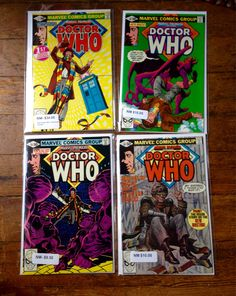 Marvel Premiere (Featuring Doctor Who); Vol 1, 57, 28, 29, and 60, Bronze Age Comic Book Lot. NM Range. 1980 - 1981. Marvel Comics http://etsy.me/2iK8Rr7