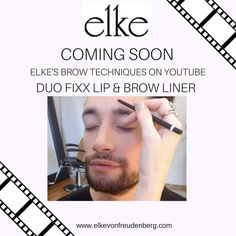 Get ready for Elke's Brow Tips! Coming soon. Featuring our Duo Fixx Lip & Brow Liner. Learn how to groom your brows.