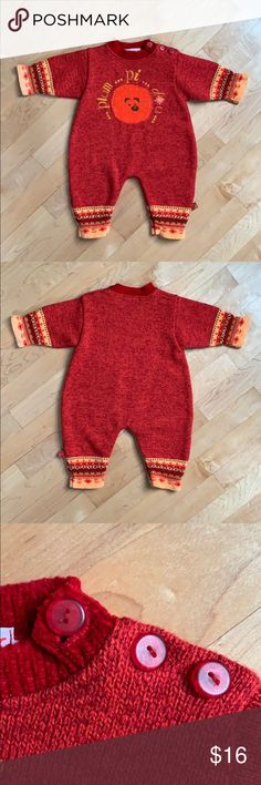 Clayeux Knit Romper 71 cm 🇫🇷 This wool and acrylic romper was made in France. It features snaps on the legs, and three buttons on the left shoulder. Size 71 cm or US 9 mos. Clayeux One Pieces Britney Jean, Baby Bundles, Knit Boots, Knitted Romper, Holiday Sweater, Plus Fashion, Fashion Tips, Fashion Trends, Zip Sweater