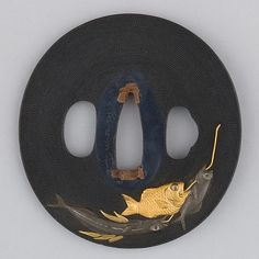 Japan, sword guard (tsuba), copper-gold alloy (shakudō), copper-silver alloy (shibuichi), gold, enameled cloisonné (shippō), copper, 1615–1868, side 2