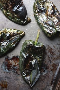 Oven Roasted Poblano Pepper Soup by kristie Pablano Pepper Recipe, Roasted Poblano Peppers, Chile Poblano, Stuffed Poblano Peppers, Stuffed Pepper Soup, Poblano Soup, Mexican Cooking, Mexican Food Recipes, Soup Recipes
