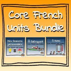 If you enjoyed my Core French Long Range Plans: Authentic Topics in Context resource, and want compatible units check out this product! French Basics, Core French, Thematic Units, Unit Plan, Learn French, Teacher Newsletter, Teacher Pay Teachers, Finance, Language