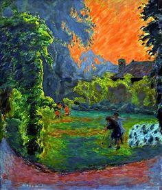 Pierre Bonnard (French, 1867-1947) - Soleil couchant (1913)