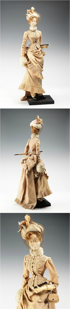 """""""1888 Doll,"""" by the House of Balmain (designer: Pierre Balmain/Albert Pouriére), 1949, at the Met. The inspiration for this dress came from a design created by Worth for Empress Elisabeth of Austria, a fashion and beauty icon of the 19th century. See: http://www.metmuseum.org/collections/search-the-collections/159282?img=0"""