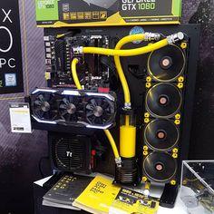 PC - Wassergekühlt gelb- watercooled - core P5 - riing LED yellow -