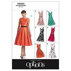 Buy Vogue Women's Dresses Sewing Pattern, 8020 Online at johnlewis.com