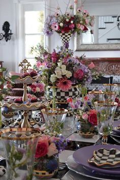 The ultimate Galentine's Day Dessert Party courtesy of Fig & Twigs! Party Desserts, Dessert Party, Mackenzie Childs Furniture, Mackenzie Childs Inspired, Beautiful Table Settings, Centerpieces, Table Decorations, Tea Party Birthday, Kids Decor