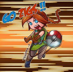 Paladins Chibi Cassie by Trauma-a on DeviantArt Pokemon 20, Pokemon Games, Paladins Champions, Pokemon Crossover, Artful Dodger, Cassie, Trauma, Chibi, Pikachu