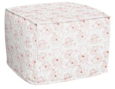 Dickens Ottoman in Floral Outlines, featured on Guildery
