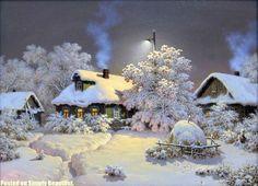 havas téli táj