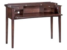 Shop for Whittier Wood Products CAF McKenzie Console Desk, 3506AFCAF, and other Living Room Tables at Woodley's Furniture in Colorado Springs, Fort Collins, Longmont, Lakewood, Centennial, Northglenn. Timeless design is superbly combined with old world craftsmanship to create a beautiful, heritage-quality furniture collection.