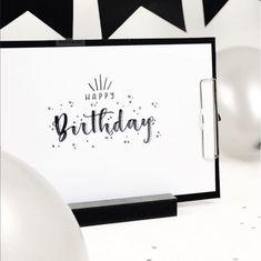 Happy Birthday Lettering - herrletter für die Letter Lovers