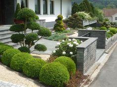 Der Pflegeleichter Vorgarten Vorgarten Pflegeleicht Outdoor Landscaping, Landscaping Plants, Front Yard Landscaping, Formal Garden Design, Garden Landscape Design, Small Front Gardens, Topiary Garden, Natural Garden, Dream Garden
