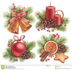 christmas watercolor: 14 тыс изображений найдено в Яндекс.Картинках