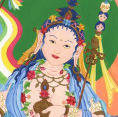 Mandarava is, along with Yeshe Tsogyal, one of the two principal consorts of Padmasambhava and is considered a female guru-deity in Buddhism. Mandarava, born a princess in Mandi, Himachal Pradesh, India in the 8th Century CE, renounced her royal birthright in order to practice the Dharma, and became a fully realized spiritual adept and great teacher.