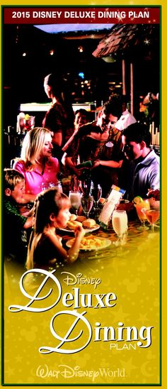 Details for the Disney Deluxe Dining Plan Disney World Resorts, Disney Parks, Dining At Disney World, How To Plan, Movie Posters, Movies, Films, Film Poster, Cinema