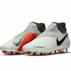 6cdb7f964 Nike Phantom Vision Pro Dynamic Fit FG Mens Soccer Cleats Pure Platinum  Crimson #Nike