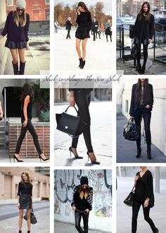 Monochromatic Monday | All Black Outfit Inspiration | The Kina's Blog
