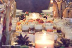 Vasitos de mascarpone con mermelada de cebolla