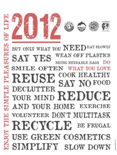 Personal Manifesto for 2012